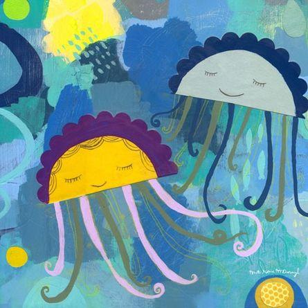 jellyfish wall canvas