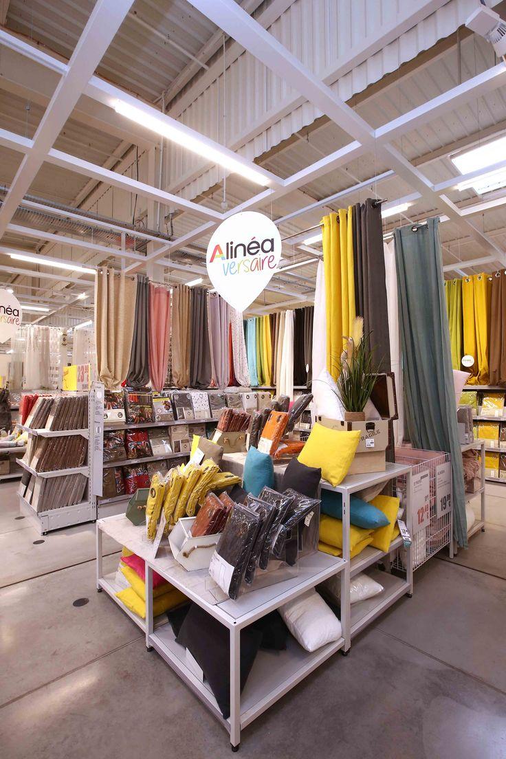 mobilier gondoles spécifique rideau décoration Alinéa