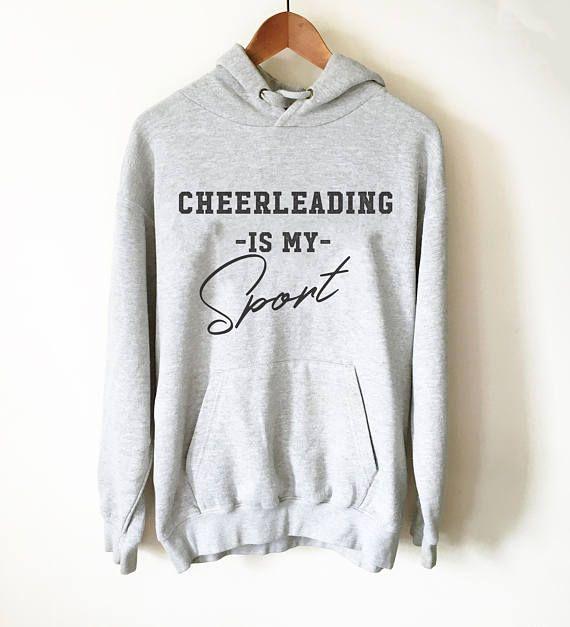 $34.95. Cheerleading Is My Sport Hoodie   Cheerleader hoodie   Cheer coach shirt   Cheerleading gift   Cheer mom shirt   Cheerleading shirt #cheerleading #ad