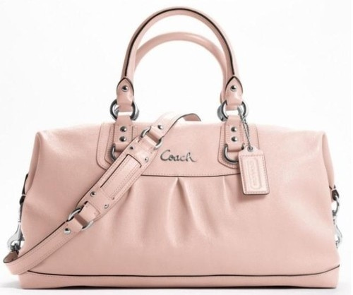 COACH F 15447 ASHLEY LEATHER LARGE CONVERTIBLE SATCHEL BAG Pink