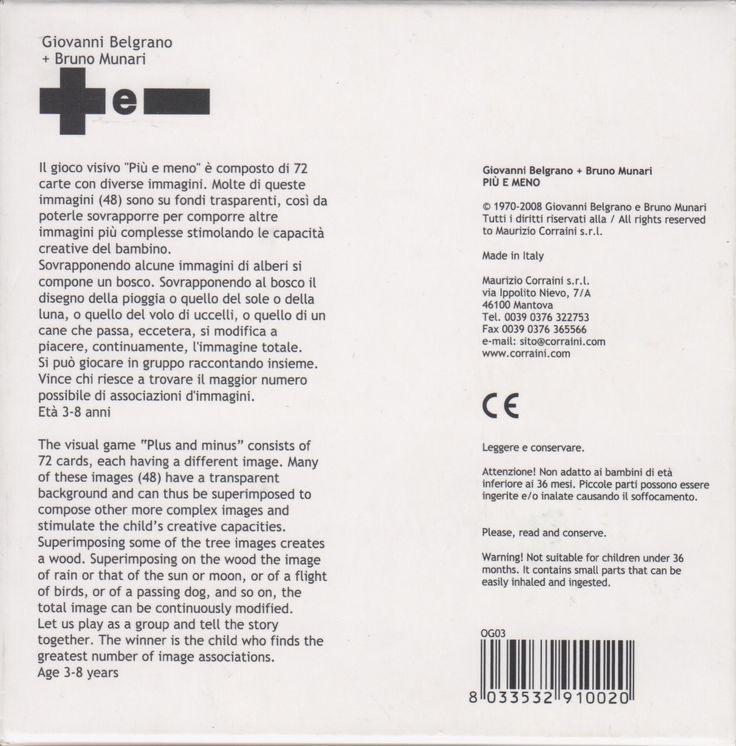 """Giovanni Belgrano & Bruno Munari, """"Plus and Minus"""", Corraini Edizioni, Mantova, 2008"""