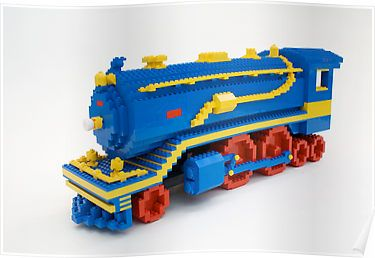 LEGO Train Engine Posters