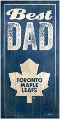 NHL - Best Dad - Toronto Maple Leafs Wooden Sign