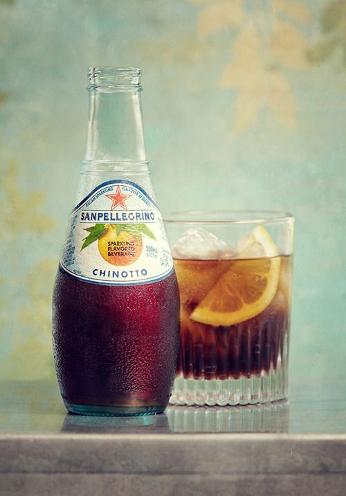 Chinotto...an Italian beverage made from Sicilian Chinotto oranges grown at the foot of the Etna volcano.