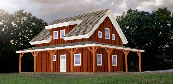 24x30 39 W O Porches Pre Designed Wood Barn Home Ponderosa