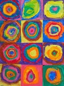 Kandinsky cercles concentriques à la manière de
