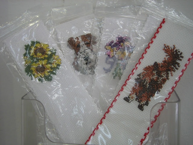 Textures:a combined effort of area artisansa.k.a. Textures Craftworks  -needlepoint bookmarks by Helen Pergentile - $8