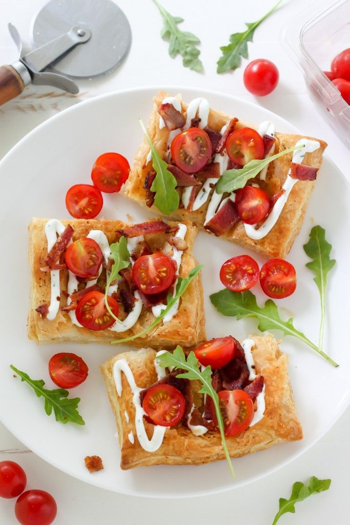 20-Minute BLT Puffed Pastry Pizza - Baker by Nature