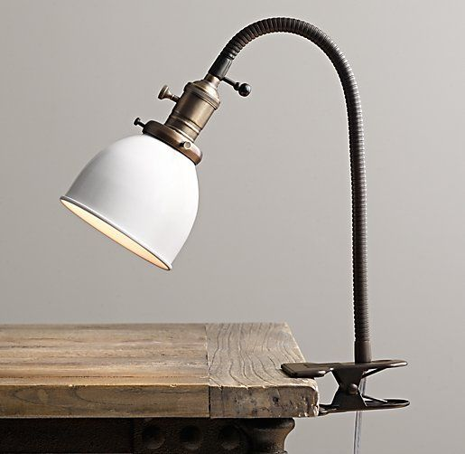 $99 Our take on the classic task lamp has a padded clip attachment base For a reading light in my guest bedroom!