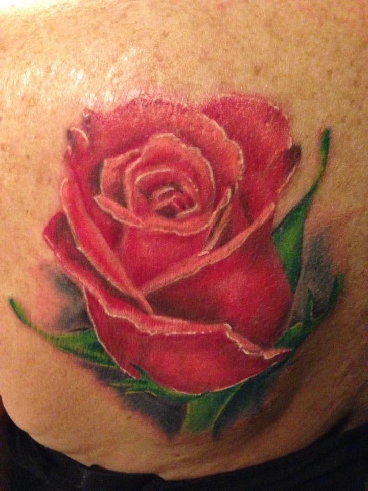 Realistic Rose Tattoo Tattoos Pinterest