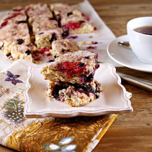 Scottish Oat Scones with Berries | Breakfast n Teatime | Pinterest