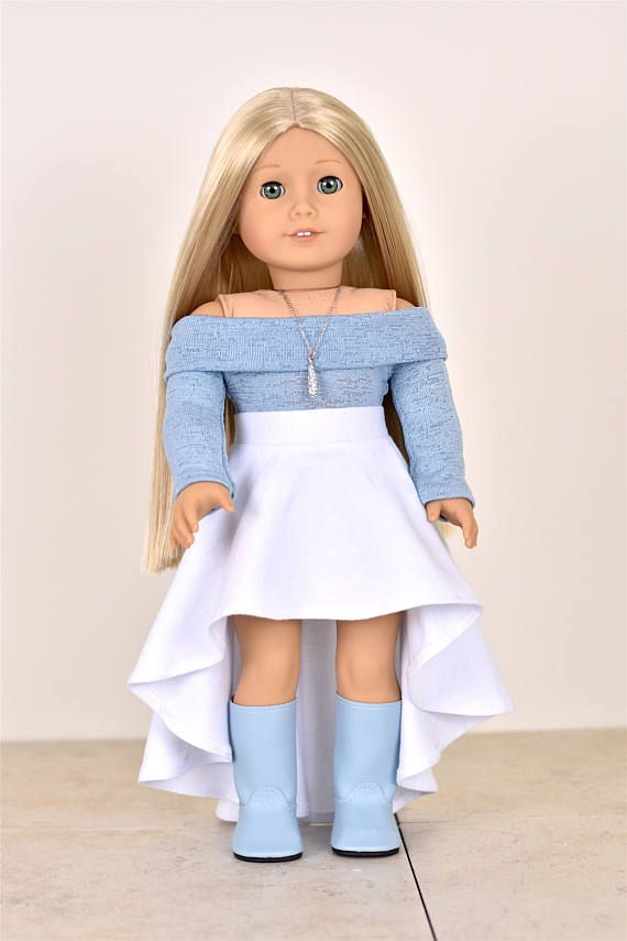 Listing includes one SKIRT only! Skirt has elastic at the waist The outfit is professionally sewn with interior edges serged/finished. Doll top and shoes are not included. This outfit is not suitable for children under the age of 3. My home is smoke-free.