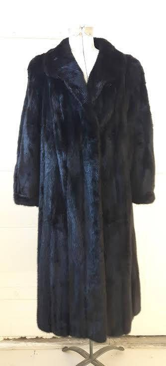 Vintage Ranch Mink Full Length Coat Ebony Mink Vintage Fur