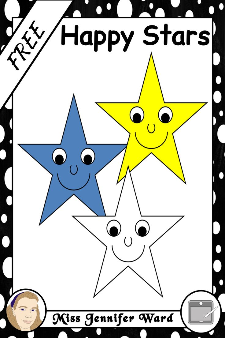 This is a set of happy stars clipart. Comes in lineart and colour. 8 cliparts FREE! http://designedbyteachers.com.au/marketplace/happy-stars-clipart/