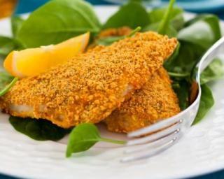 Poisson pané à la poêle : http://www.fourchette-et-bikini.fr/recettes/recettes-minceur/poisson-pane-a-la-poele.html