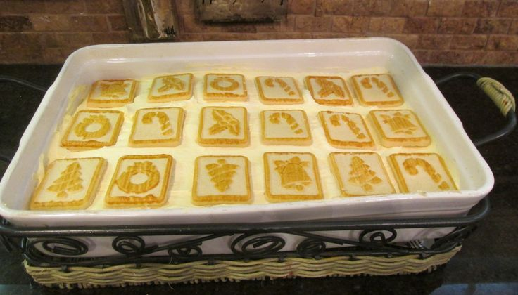 Chessman banana pudding dessert