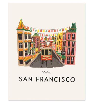 San Francisco Print by Rifle
