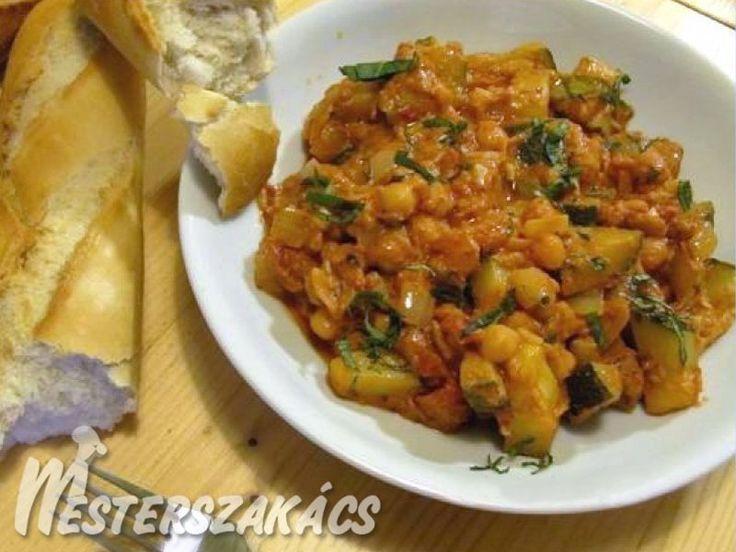 Csicseriborsós zöldségragu recept