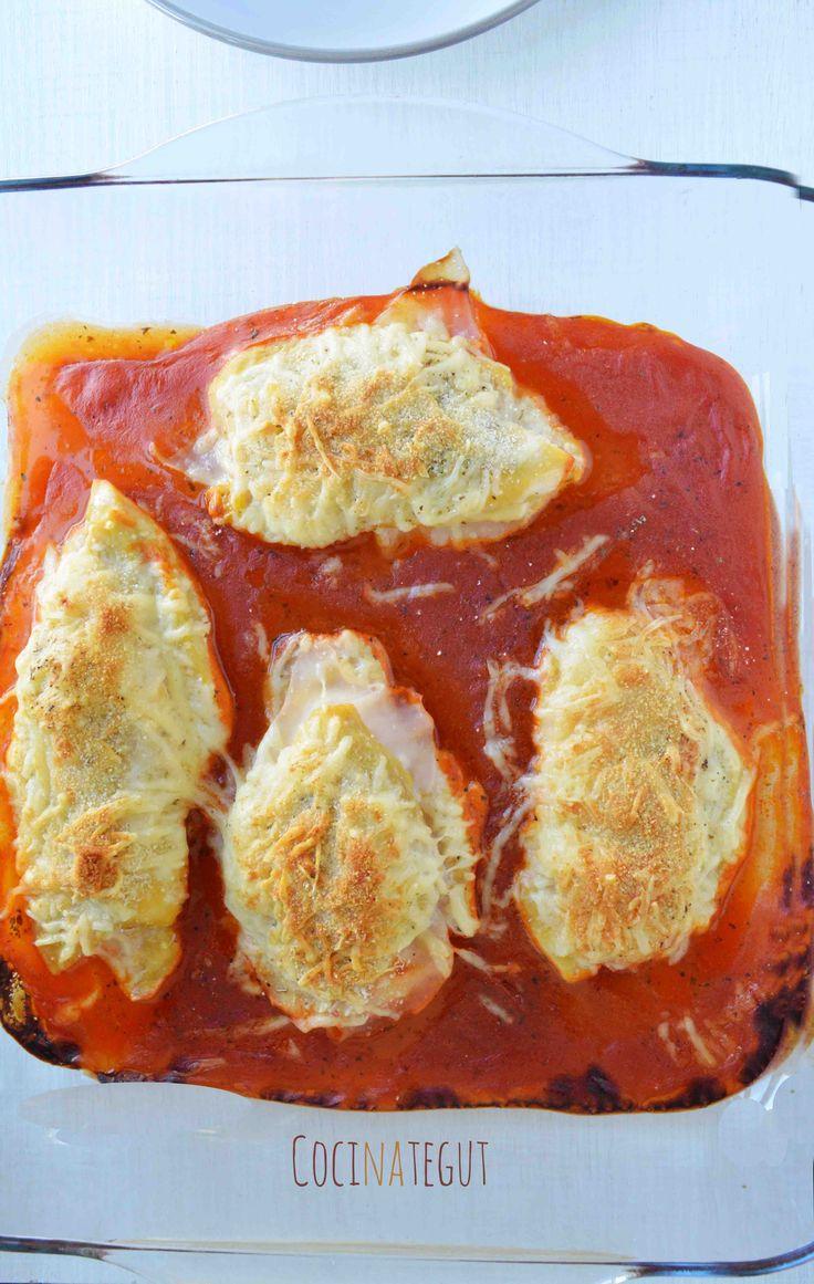 Pechugas de pollo rellenas al horno