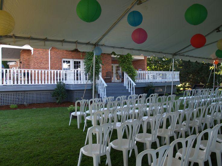 casual backyard wedding wedding tents pinterest