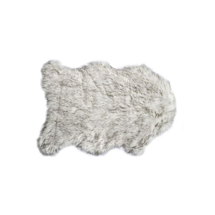 Luxe Gorden Gradient Grey Faux Sheepskin Throw Rug (2' x 3') (Faux Sheepskin Throw RUG 2'X3' Gradient Grey), Size 2' x 3' (Acrylic, Animal)