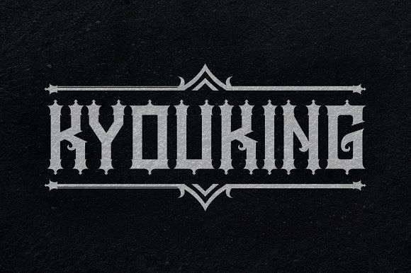 Kyouking Font by seventhimperium on @creativemarket