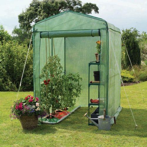 Gardman Walk-In 4 x 6 ft. Greenhouse with Shelving - Greenhouses at Hayneedle