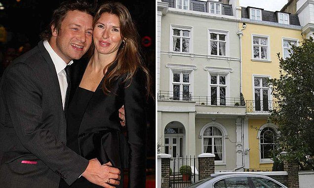 Jamie Oliver's home has been targeted by burglars who stole property from his basement after breaking in through the garage.