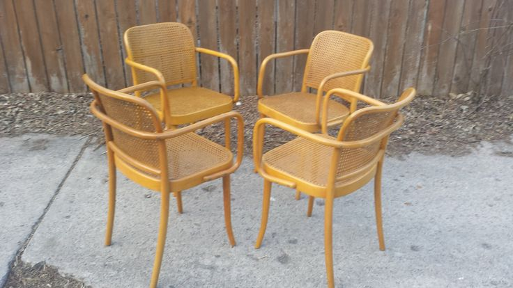 bentwood 811 arm chair set josef hoffman prague chairs and arm