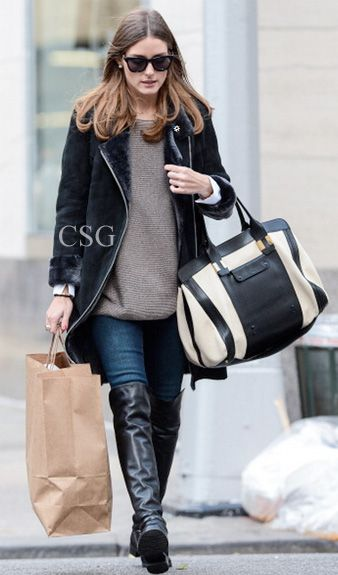 #OliviaPalermo wore the iconic #StuartWeitzman 5050 Boots out in the Upper East Side in New York City, November 2, 2012