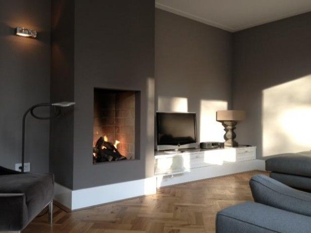 Fire place.... With lounge couch