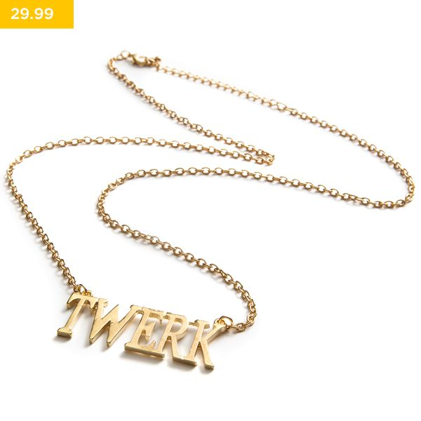 Make it twerk with this stylish necklace! Part of the LEGiT accessories range.