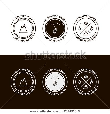 Set of outdoor adventure, expedition, tourism logo in vector, eps - stock vector