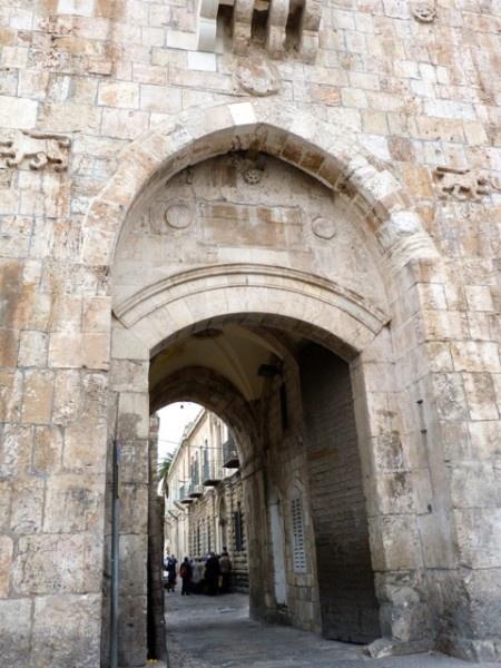 Old city Jerusalem, Israel The Lions Gate or St Stephen's Gate