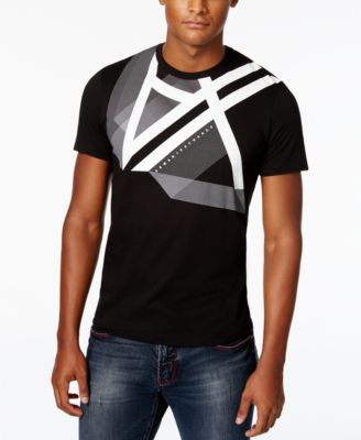 Finish your modern look with the fashion-forward design of this Right Side Up T-shirt from Armani Exchange, featuring smooth pima cotton fabric and a stylish graphic-print logo at the front. | Cotton