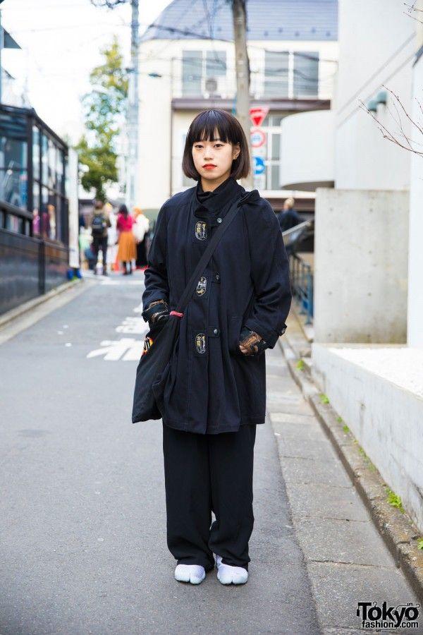 Harajuku Girl in Japanese & Korean Streetwear