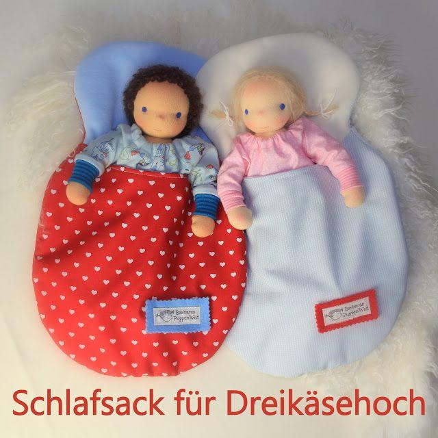 Barbaras Blumenkinder und Puppen Welt: DREIKÄSEHOCH GEHT SCHLAFEN #9 Schlafsack für die P...