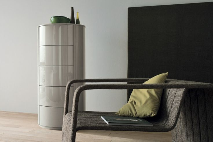 Fantastic round tallboy chest of drawers   glossy or matt lacquer colour choices