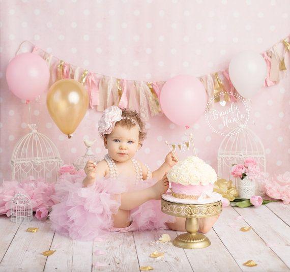 ropa smash Cake primera traje de cumpleaños niñas smash cake