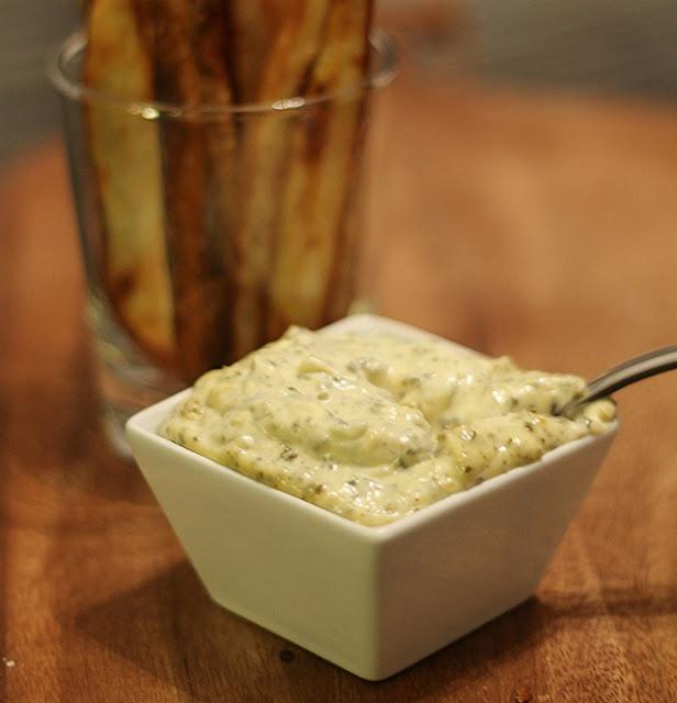 homemade fries with pesto aioli | food | Pinterest