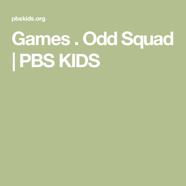 Games . Odd Squad | PBS KIDS