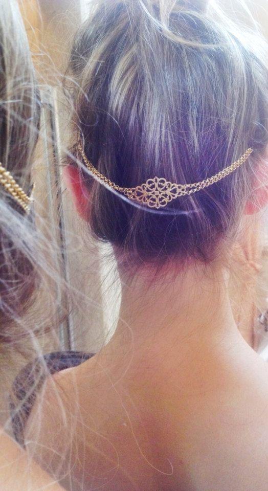 Goldene Tiara Krone Haarnadel, Haar-Brosche                                                                                                                                                                                 Mehr