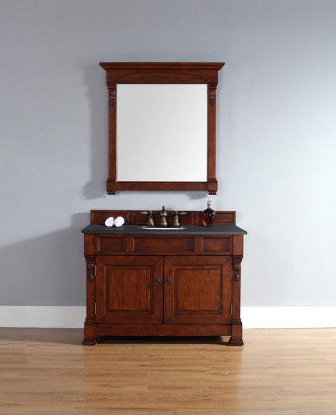 "Brookfield 48"", James Martin Warm Cherry Traditional Bathroom Vanity - The Bathroom Vanity Store Canada - 48"" - 1"