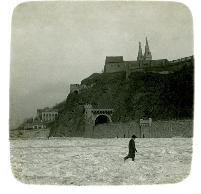 lostandfoundinprague:    Vltava, Vysehrad, winter Prague. Unknown author. Early years of 20th century