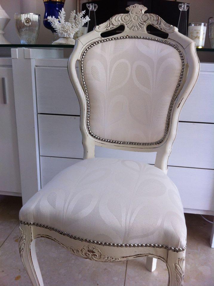 Cream Handpainted Chair