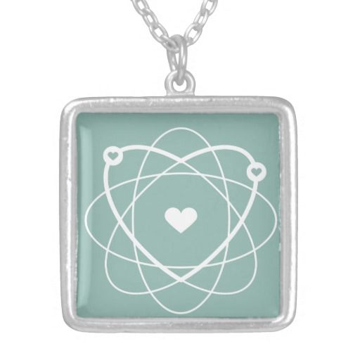 Atom Love. Wedding Edition. Special Silver Necklace. #geek #wedding #love