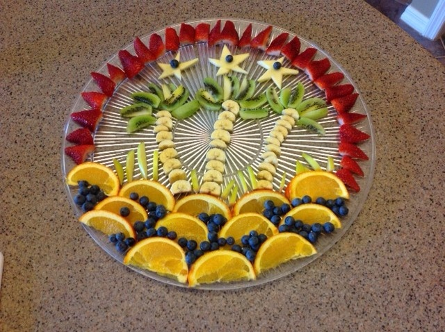 Tropical fruit tray