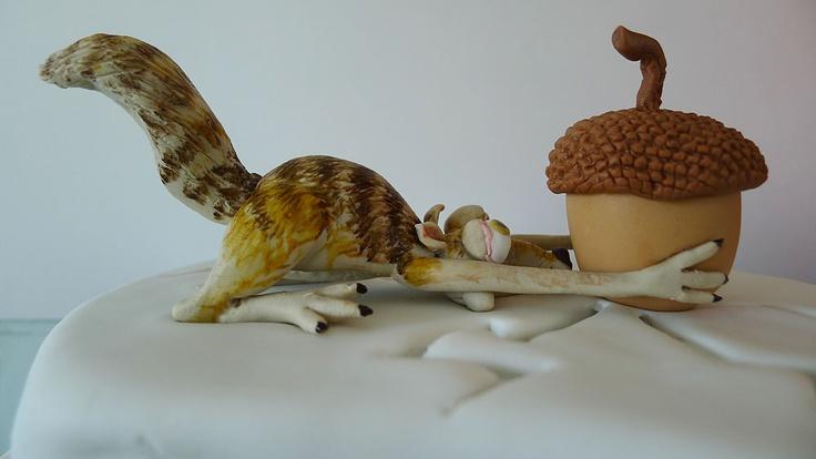 Ice Age cake  - Scrat, by Karine Zablit - © 20th Century Fox
