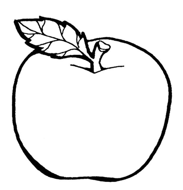 The Delicious Fruit Apple Coloring Page Colouring Coloring Page Of An Apple