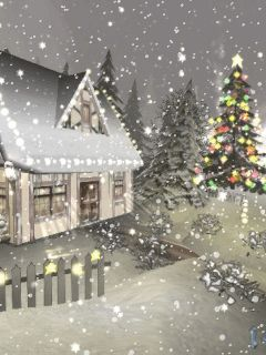 animatede gif christmas scenes | Winter landscape animations and scenic wintery snow moving clip art